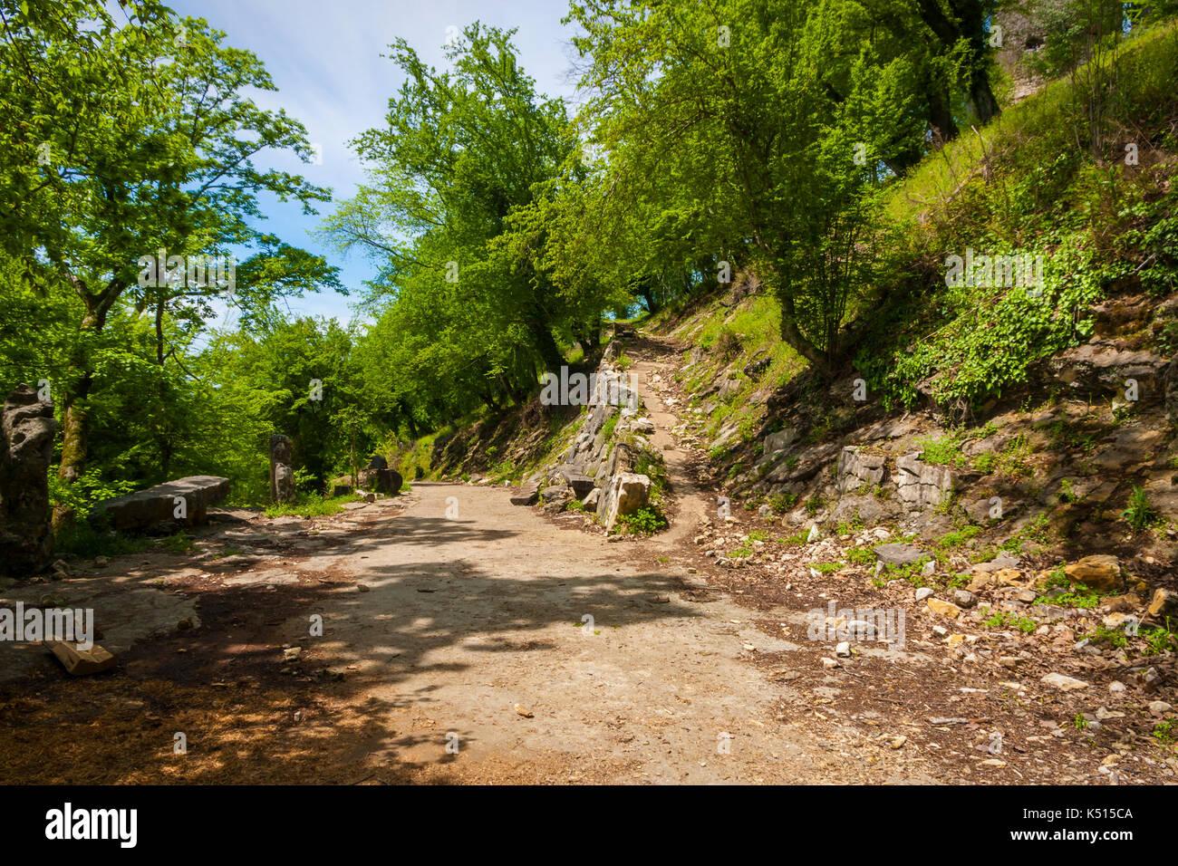 road to the mountains of Abkhazia - Stock Image