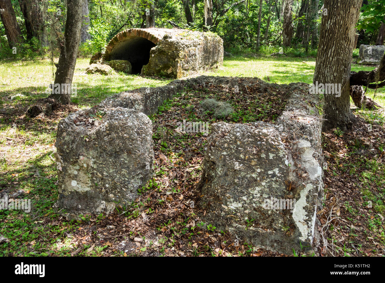 St. Saint Simons Island Georgia National Park Service Fort Frederica National Monument archaeological site - Stock Image