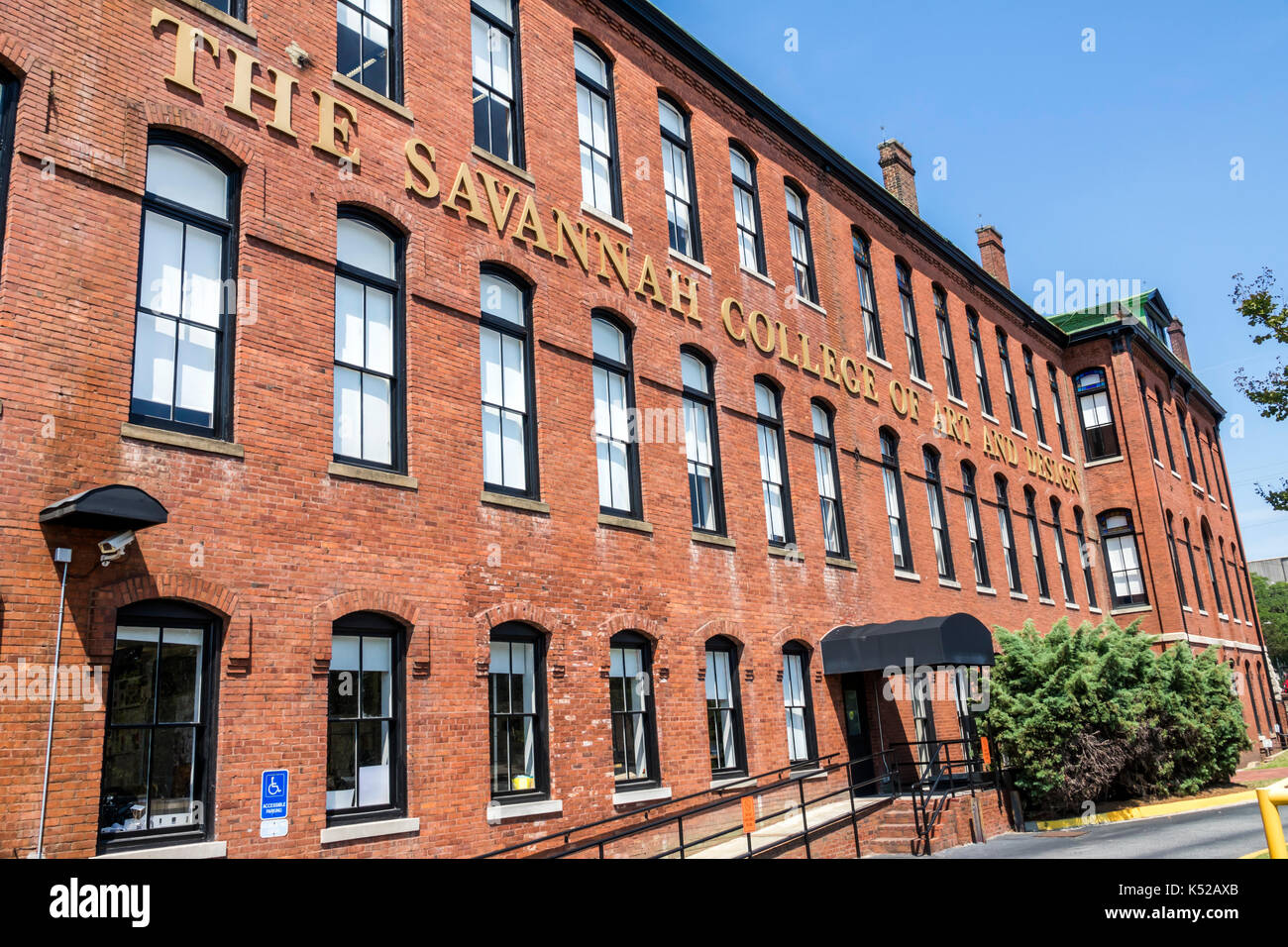 Savannah Georgia Central of Georgia State Railroad complex Savannah College of Art and Design SCAD Eichberg Hall - Stock Image