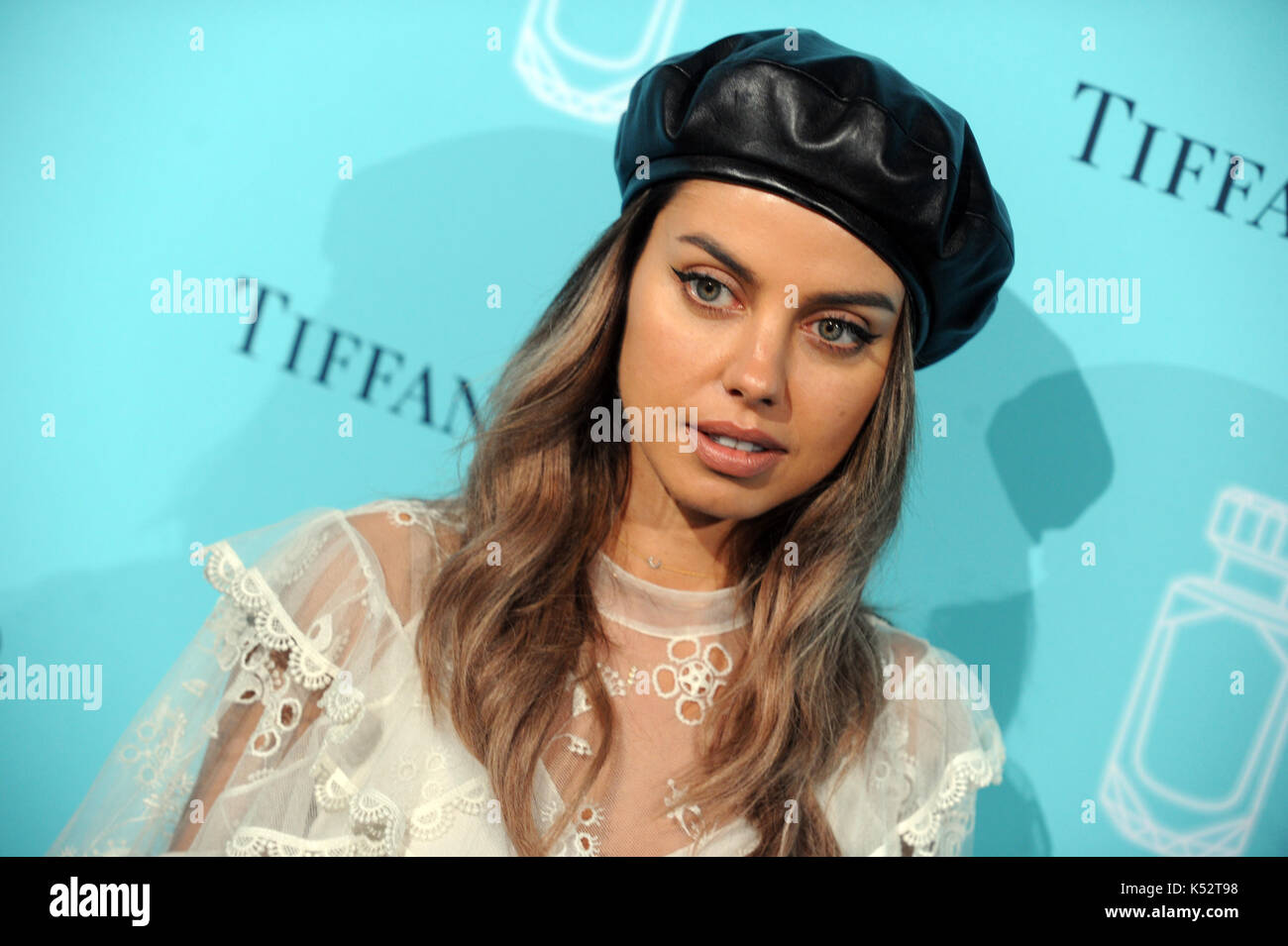 NEW YORK, NY - SEPTEMBER 06: Guest attends the Tiffany & Co. Fragrance launch event on September 6, 2017 in - Stock Image
