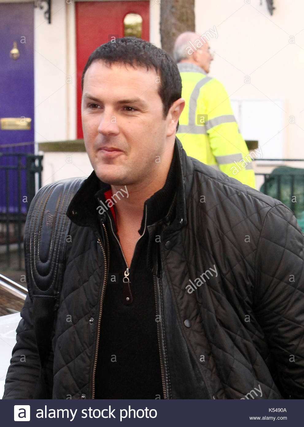 Paddy McGuinness. Comedian Paddy McGuinness is pictured arriving at the ITV studios for a guest appearance on the - Stock Image