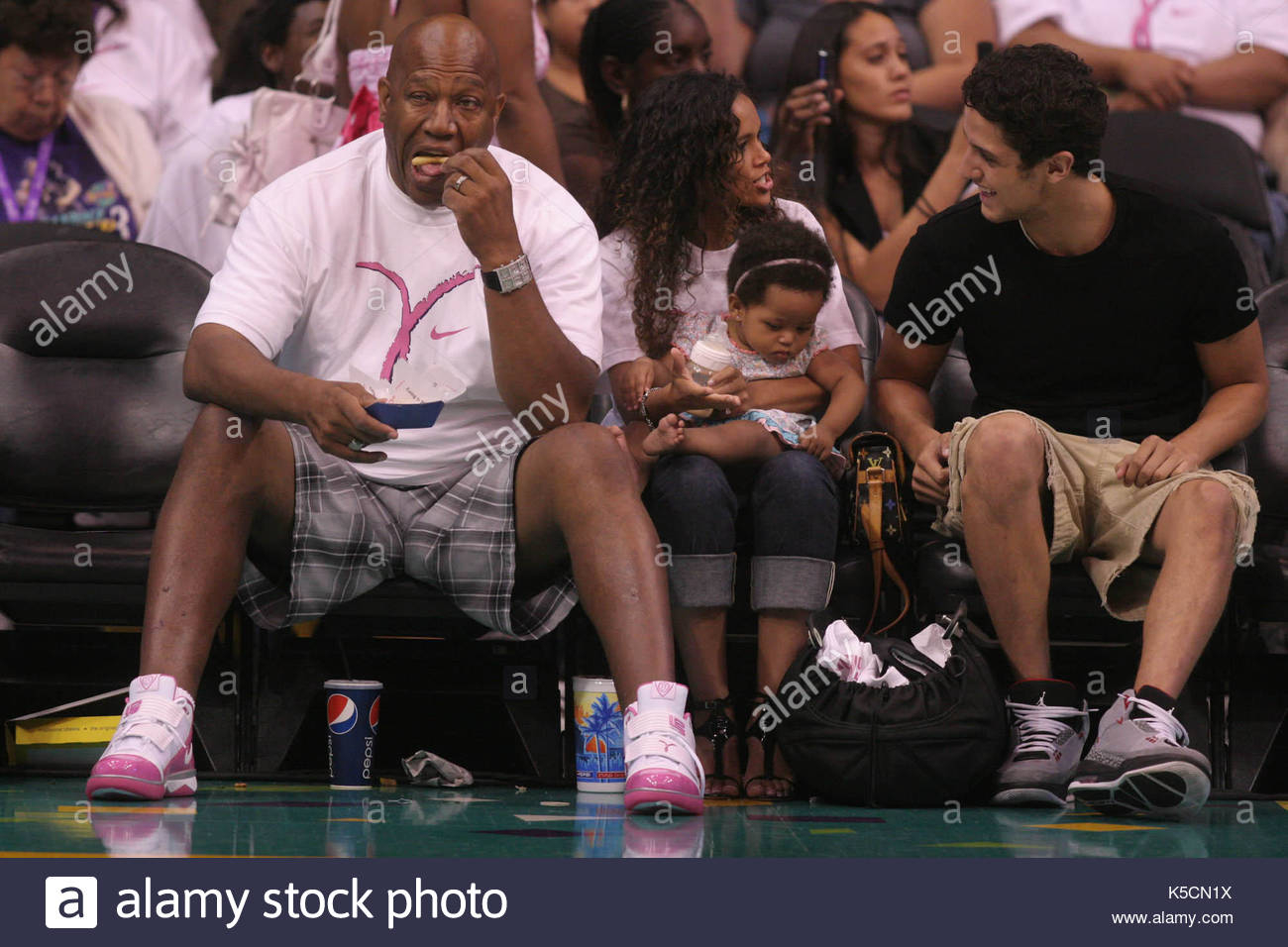 Celebrities attend Los Angeles Sparks game. Celebrities attend the Los Angeles Sparks Game in Los Angeles, Ca. - Stock Image
