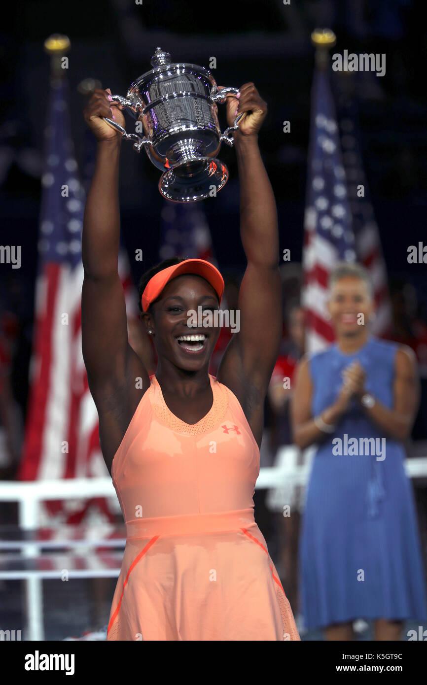 New York, United States. 09th Sep, 2017. US Open Tennis: New York, 9 September, 2017 - Sloane Stephens of the United - Stock Image