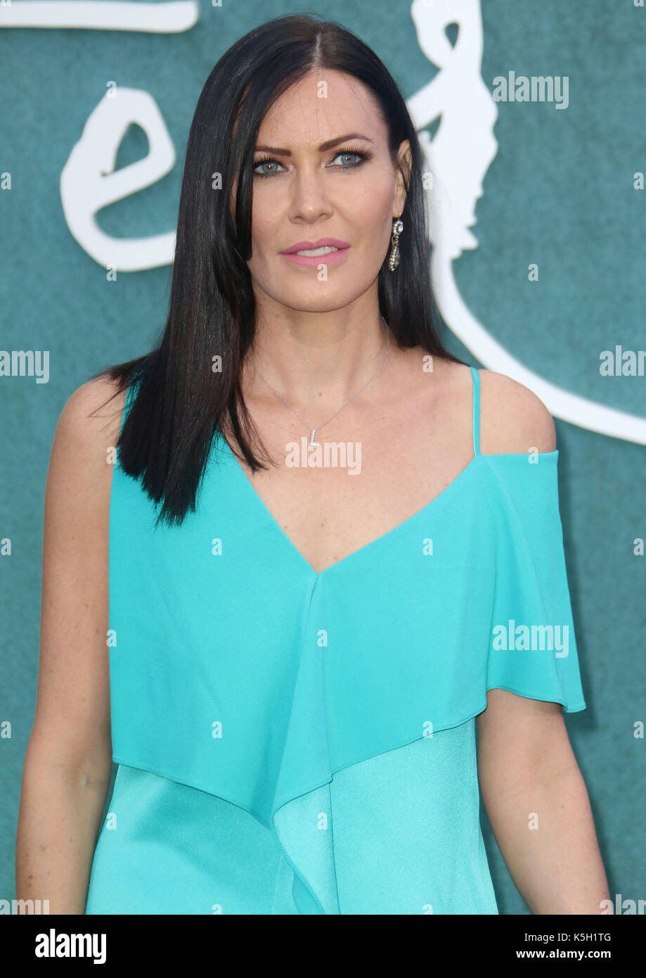 LONDON - SEP 06, 2017: Linzi Stoppard attends the Mother UK film premiere at Odeon Leicester Square in London - Stock Image