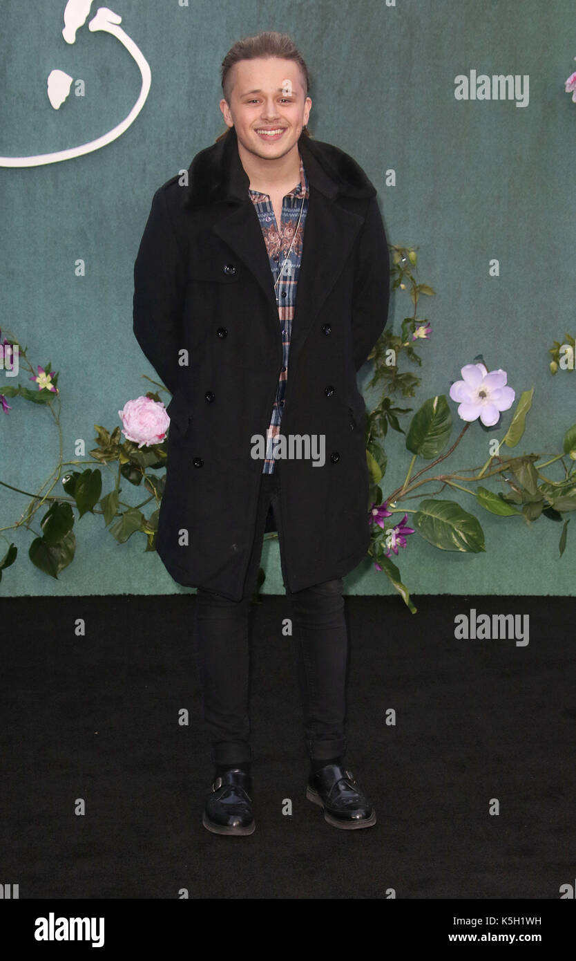 LONDON - SEP 06, 2017: Luke Friend attends the Mother UK film premiere at Odeon Leicester Square in London - Stock Image
