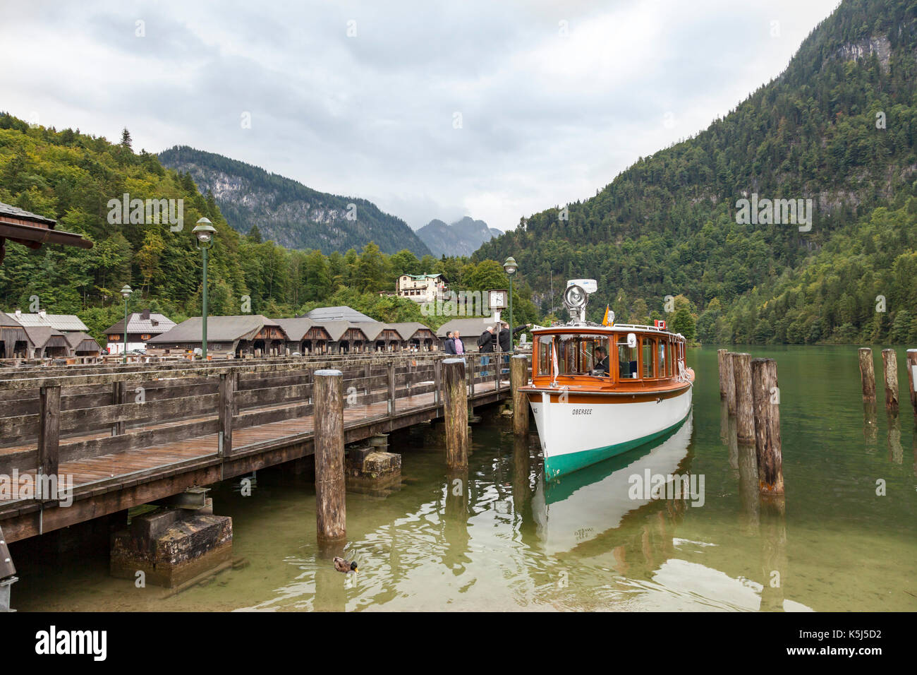Konigssee, Bavaria and lake - Stock Image