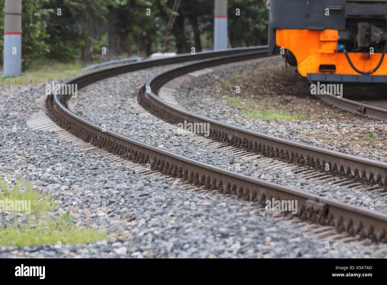 train tracks and orange1 - photo #22