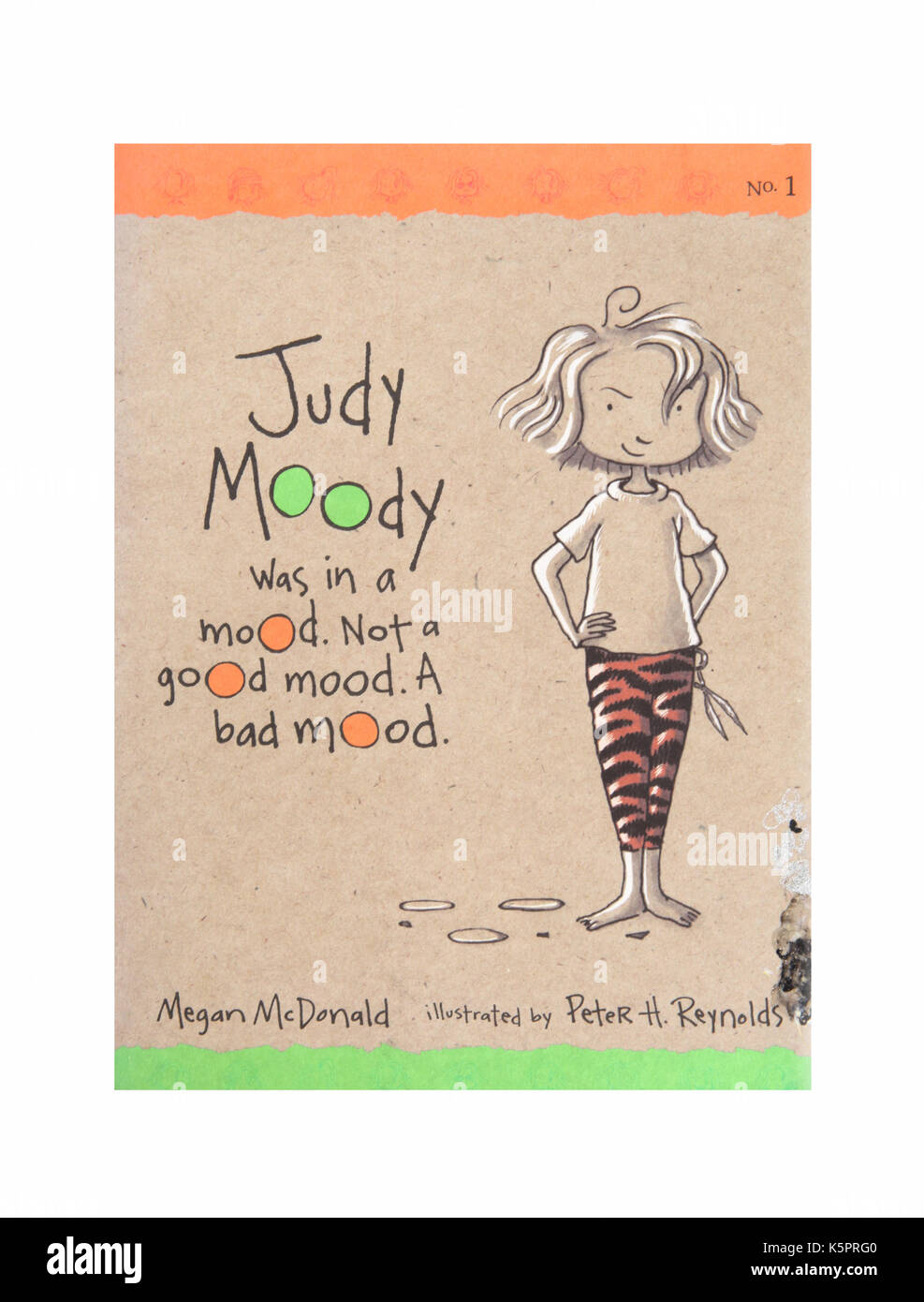 The book Judy Moody was in a mood, not a good mood. A bad mood by Megan McDonald - Stock Image