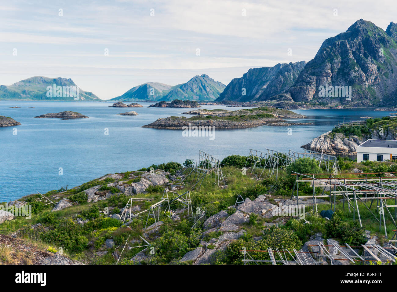 Fishing Fish Dock Water Ocean Sea Mountain Stock Photos
