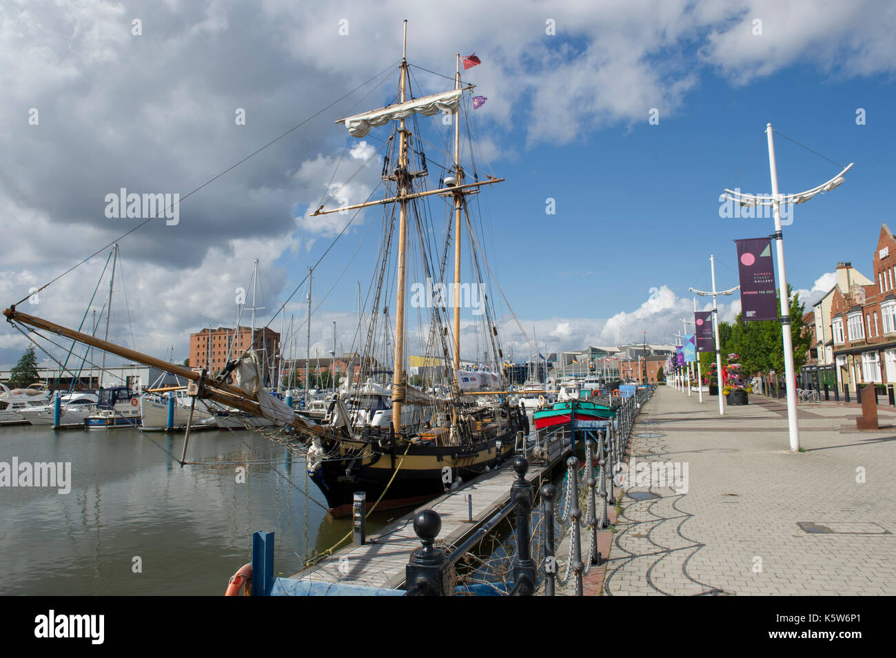 HMS Pickle docked at the Marina in Kingston Upon Hull, UK City Of Culture 2017 - Stock Image