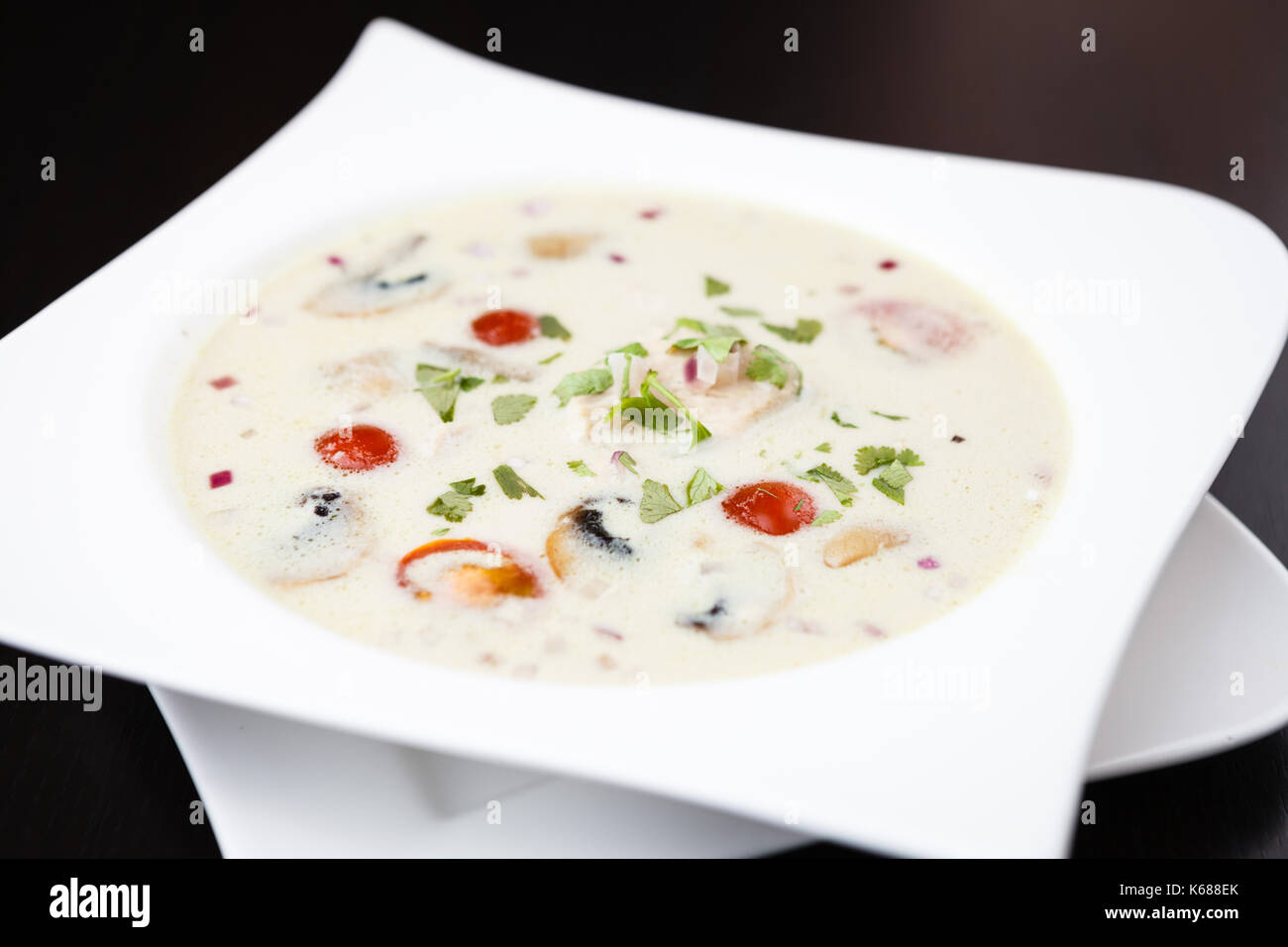 Tom Kha Soup - Stock Image