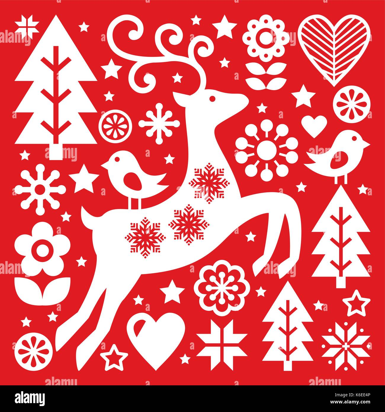 Scandinavian folk art christmas