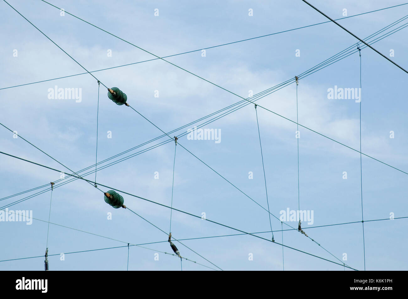 With glass insulators stock photos with glass insulators for Power line insulators glass