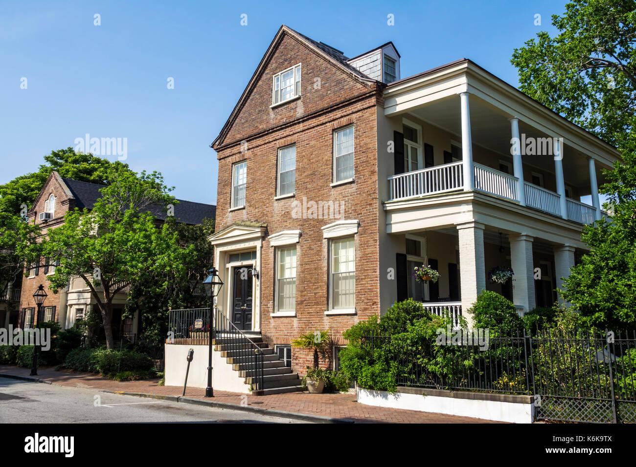 Charleston South Carolina SC College of Charleston university Glebe House haunted mansion antebellum - Stock Image