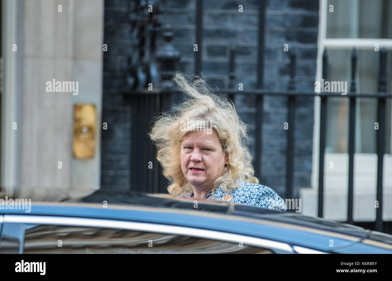 London, UK. 13th Sept, 2017. Janice Charette the High Commissioner for Canada to the United Kingdom arrives at 10 - Stock Image