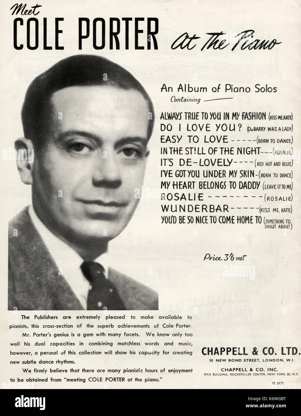 an introduction to the life of cole porter an american composer and lyricist