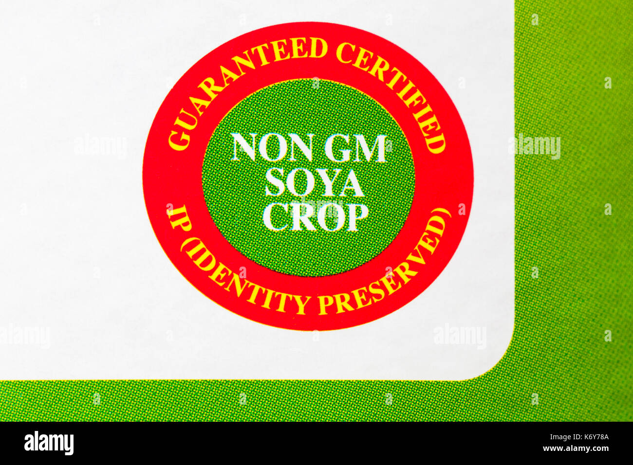 Non Gm Soya Crop Guaranteed Certified Ip Identity Preserved Symbol