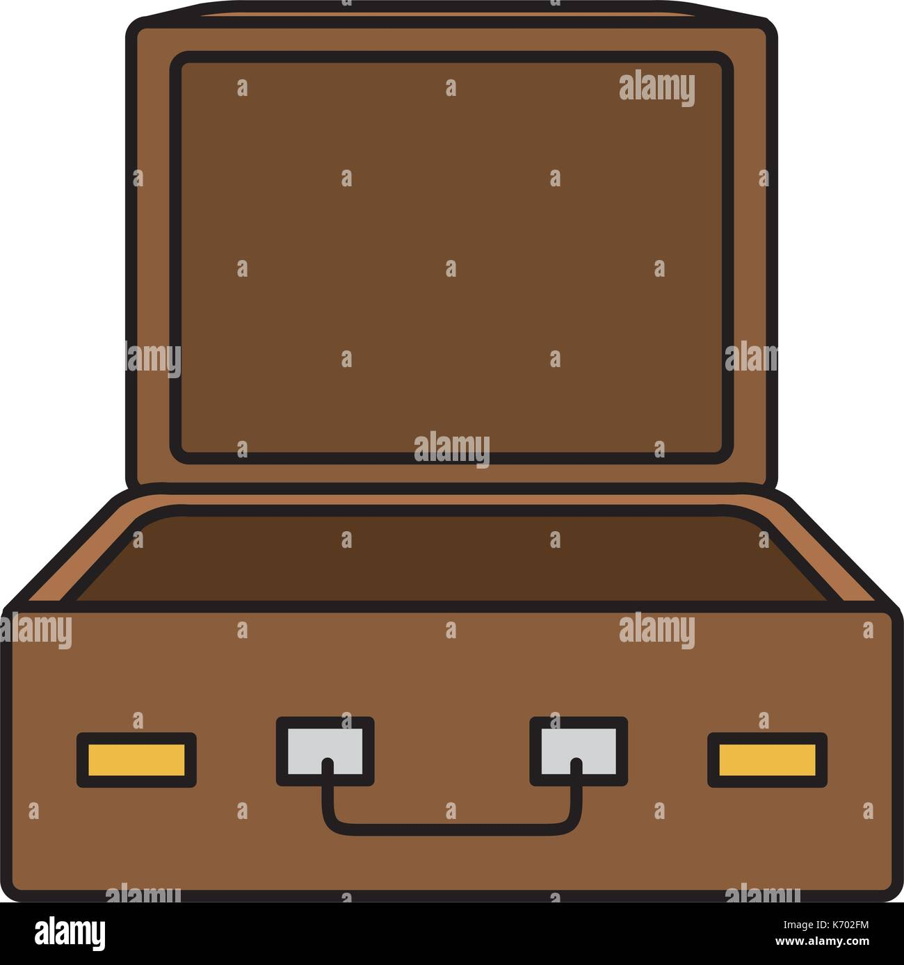 Open Empty Suitcase St...