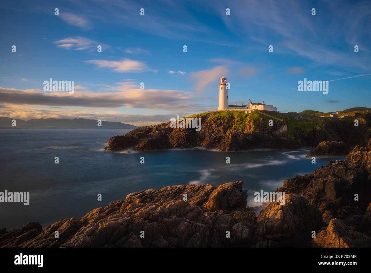 Fanad Head Lighthouse - Ireland - Stock Image