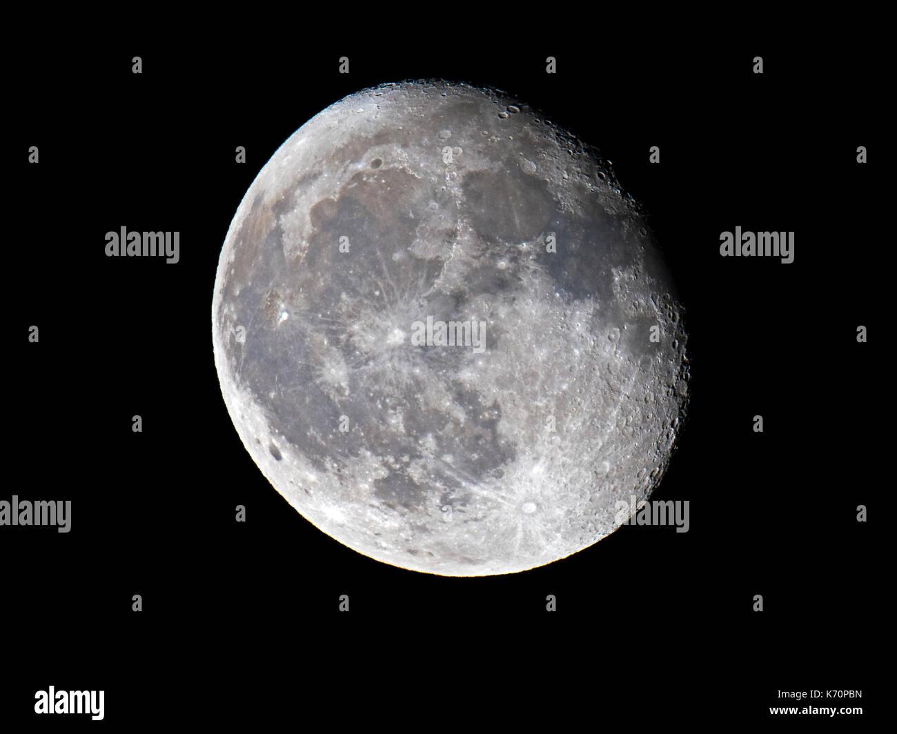 Waning Gibbous Moon - Stock Image
