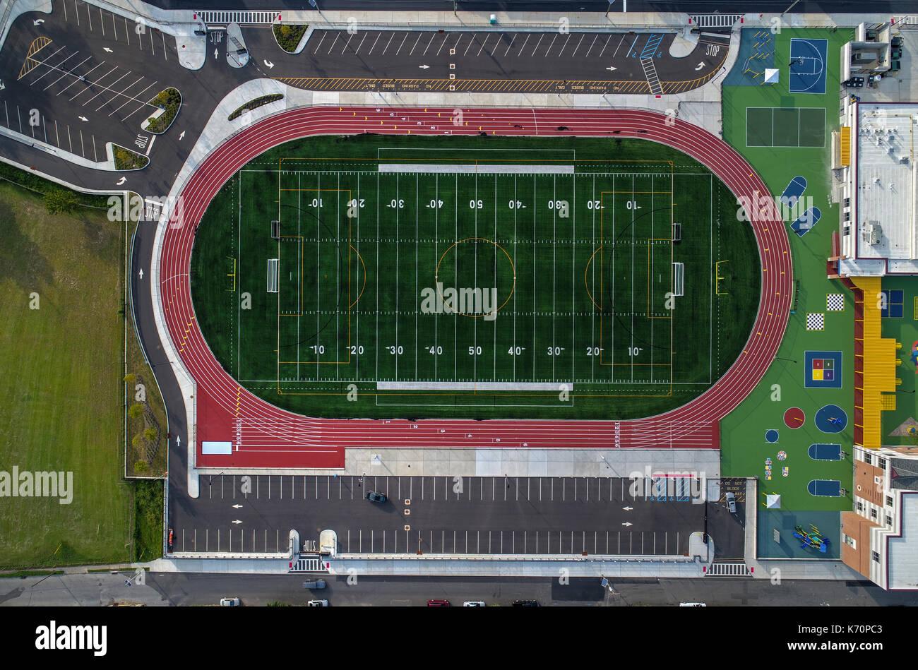 Football Athletic Field - Stock Image