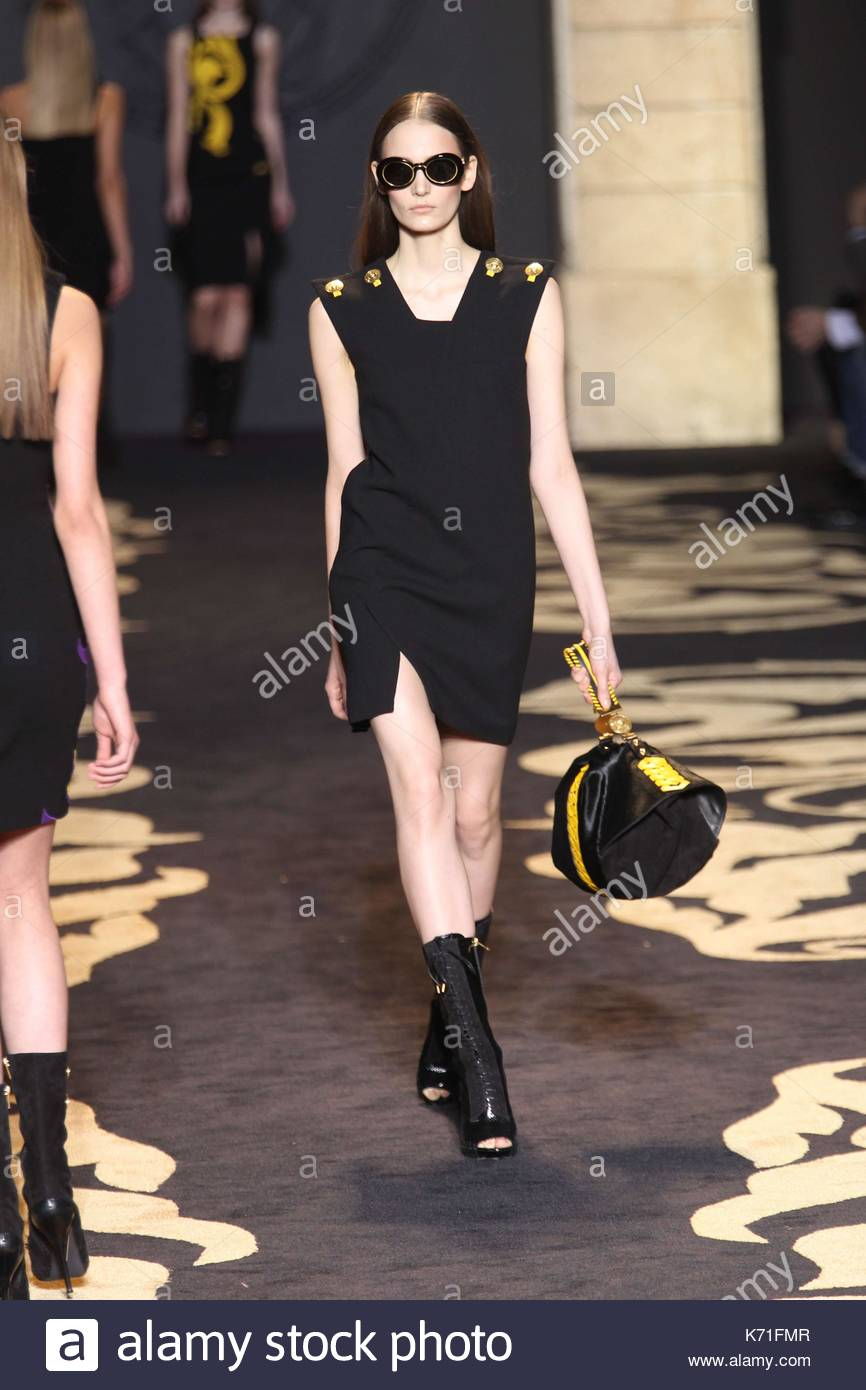 Versace Milan Fashion Week Stock Photos & Versace Milan ...