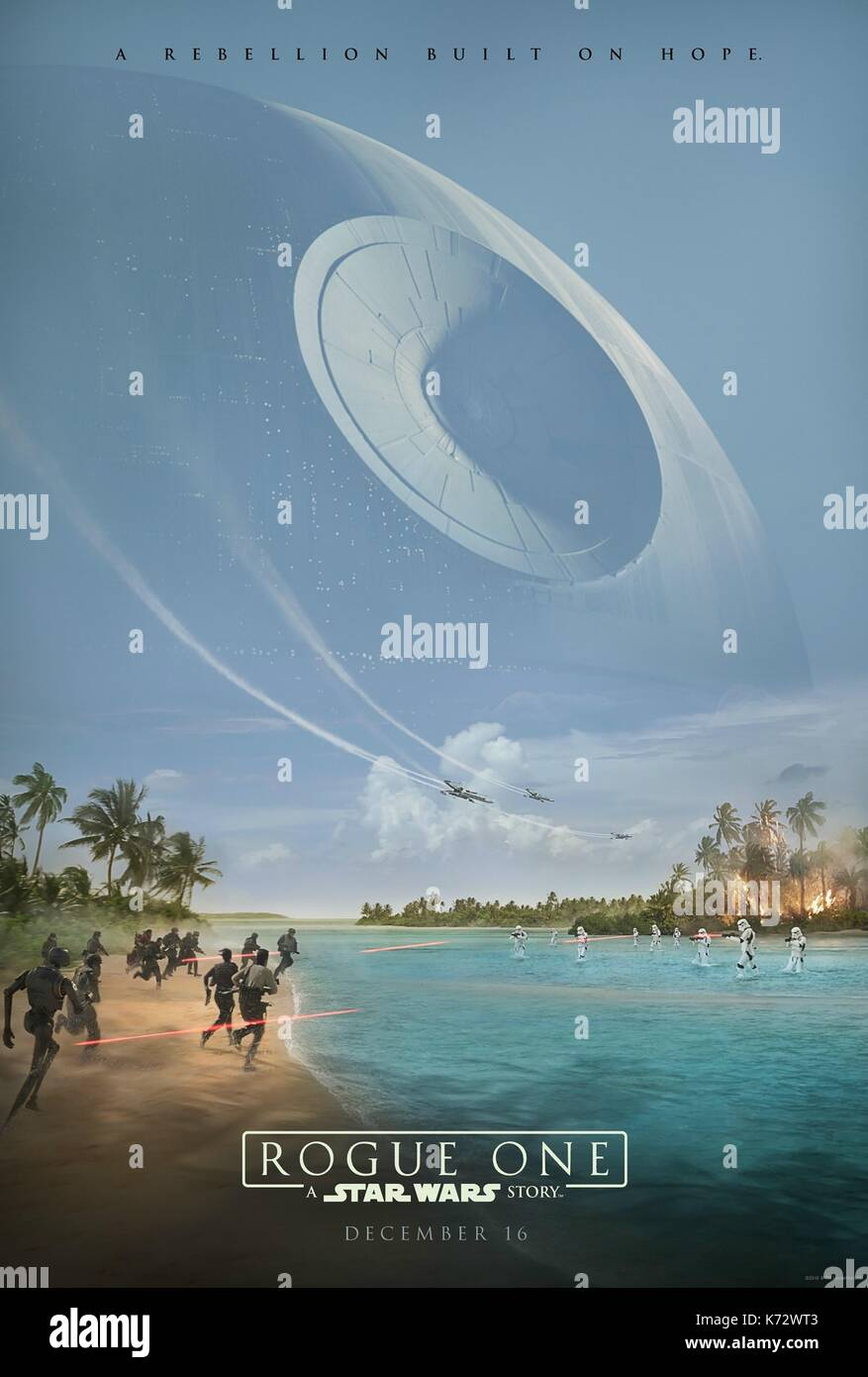 Rogue One: A Star Wars Story  Year : 2016 USA  Director : Gareth Edwards  Movie poster (USA)    .  It is forbidden - Stock Image