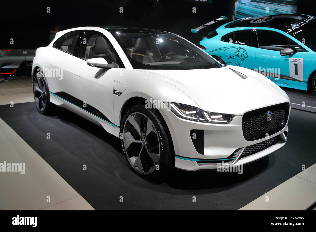 Frankfurt, Germany. 15th Sep, 2017. Car manufacturers from all over the world present their newest models and concept - Stock Image