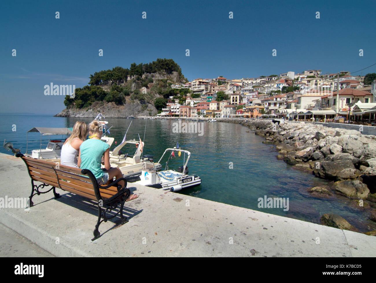 parga harbour greece - Stock Image