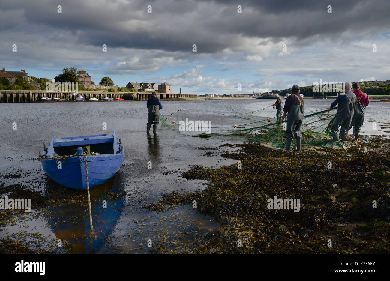 Salmon Fishing On River Tweed Stock Photos & Salmon ...