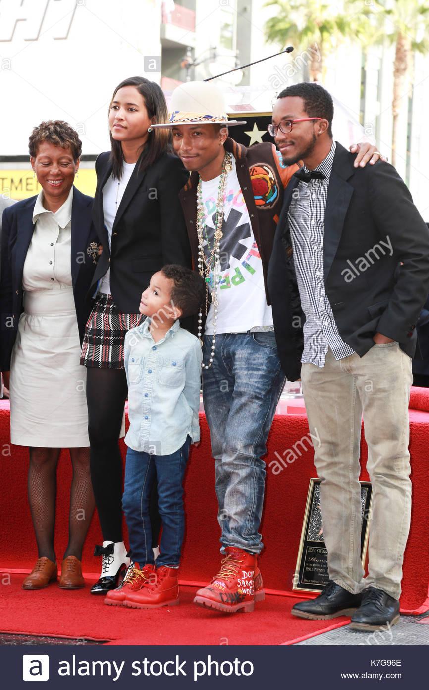 Pharrell Williams, Rocket Ayer Williams and Helen ...