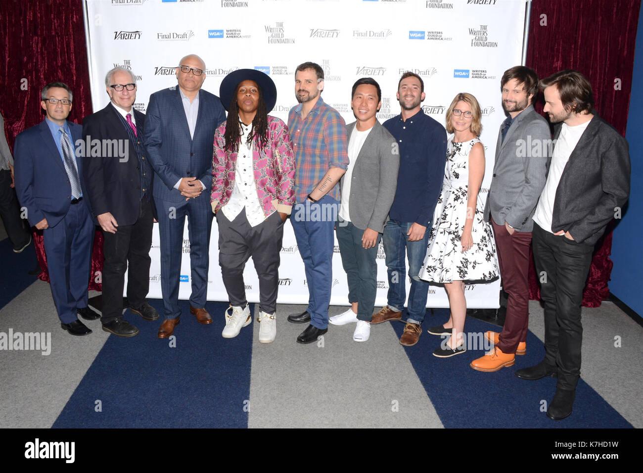 Howard Rodman,Larry Wilmore,Lena Waithe,Gordon Smith,Kevin Yu,  Steven Davis,Jo Miller,Matt Duffer Ross Duffer attends - Stock Image