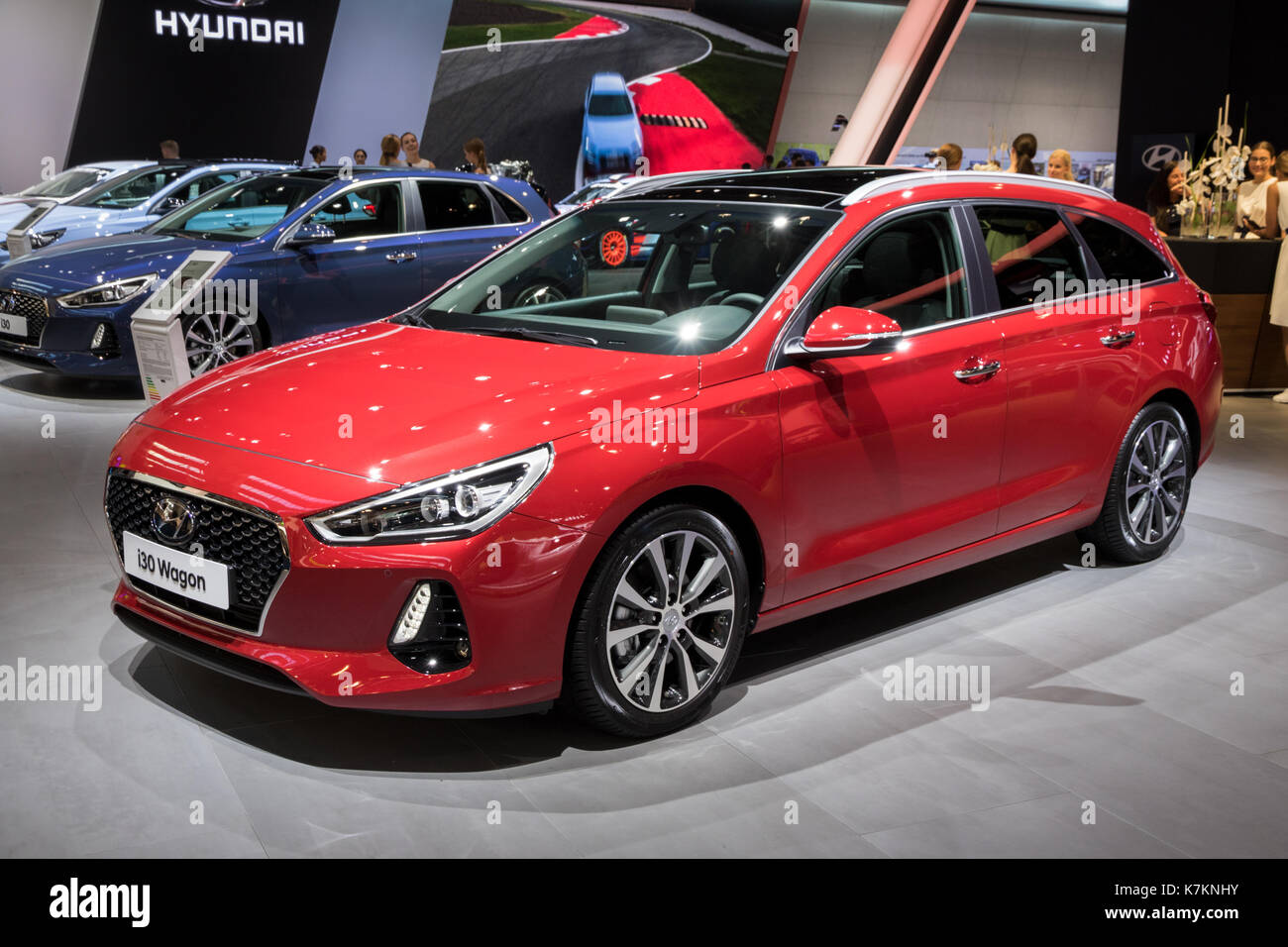frankfurt germany sep 12 2017 new 2018 hyundai i30 wagon car at stock photo 159629959 alamy. Black Bedroom Furniture Sets. Home Design Ideas