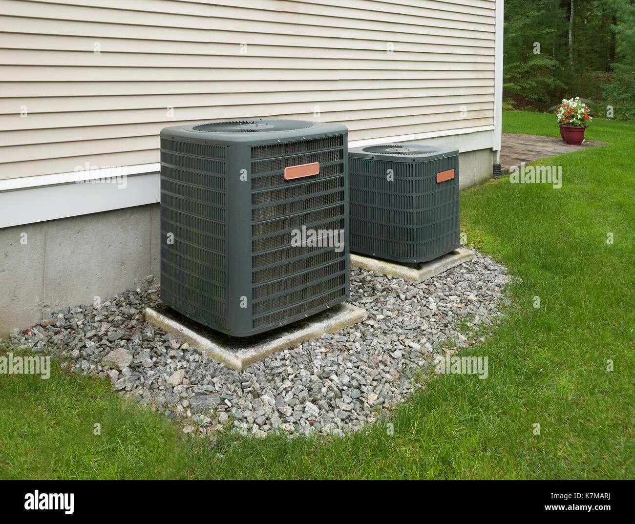 Apartment Heating And Cooling Units : Air conditioning unit compressor stock photos