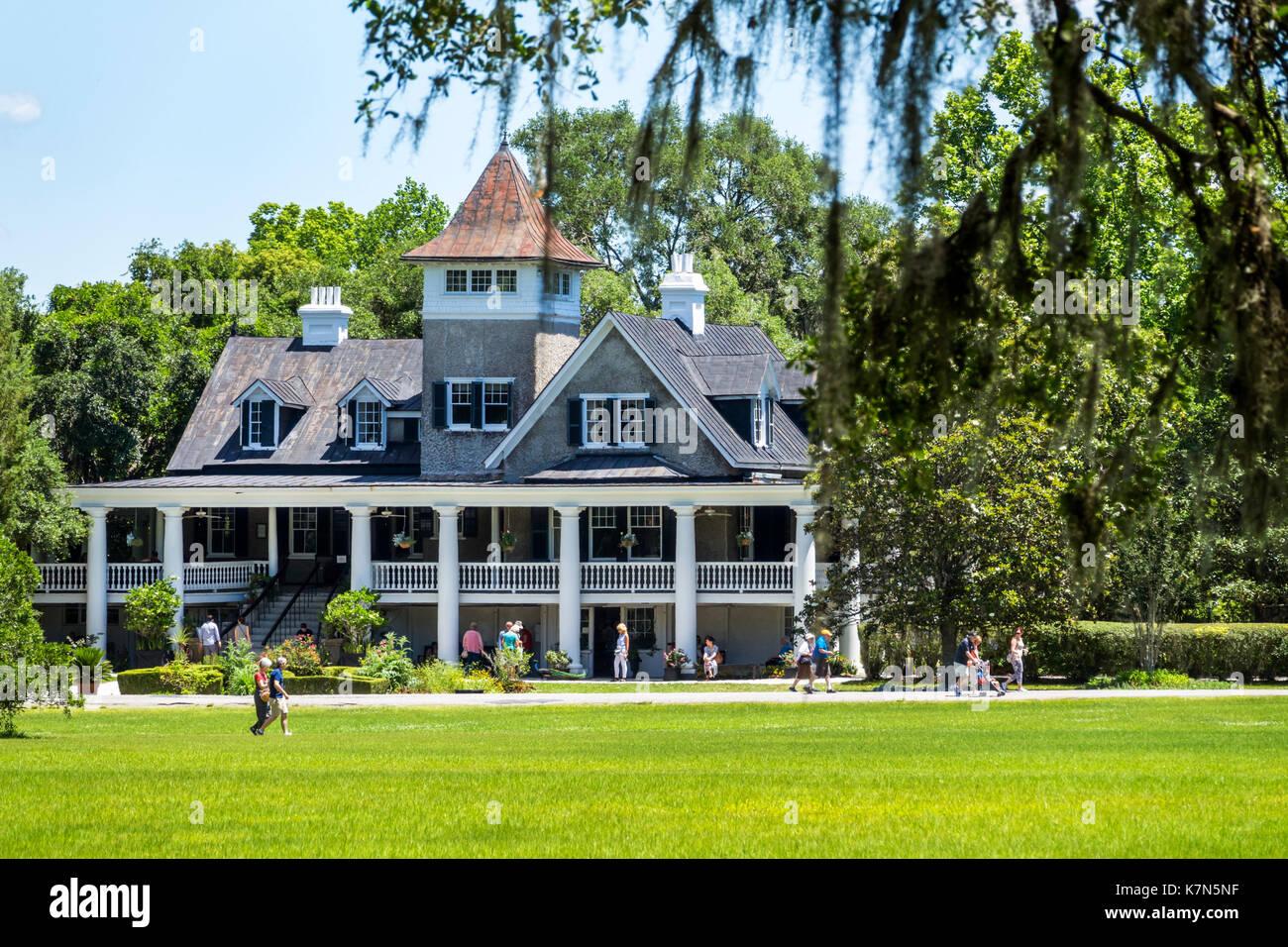 Charleston South Carolina SC Magnolia Plantation and Gardens historic house antebellum - Stock Image