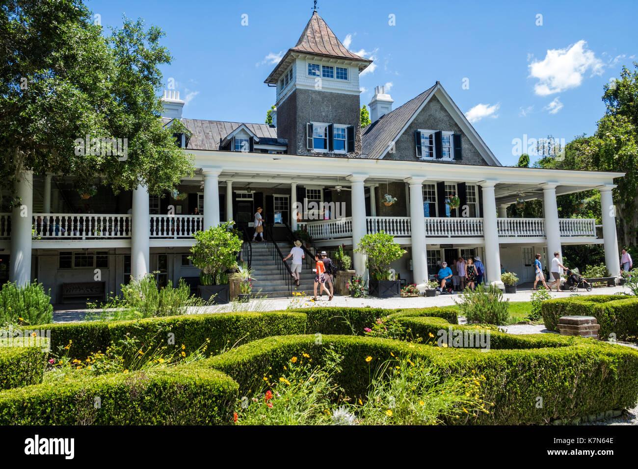 Charleston South Carolina SC Magnolia Plantation and Gardens Antebellum house museum - Stock Image