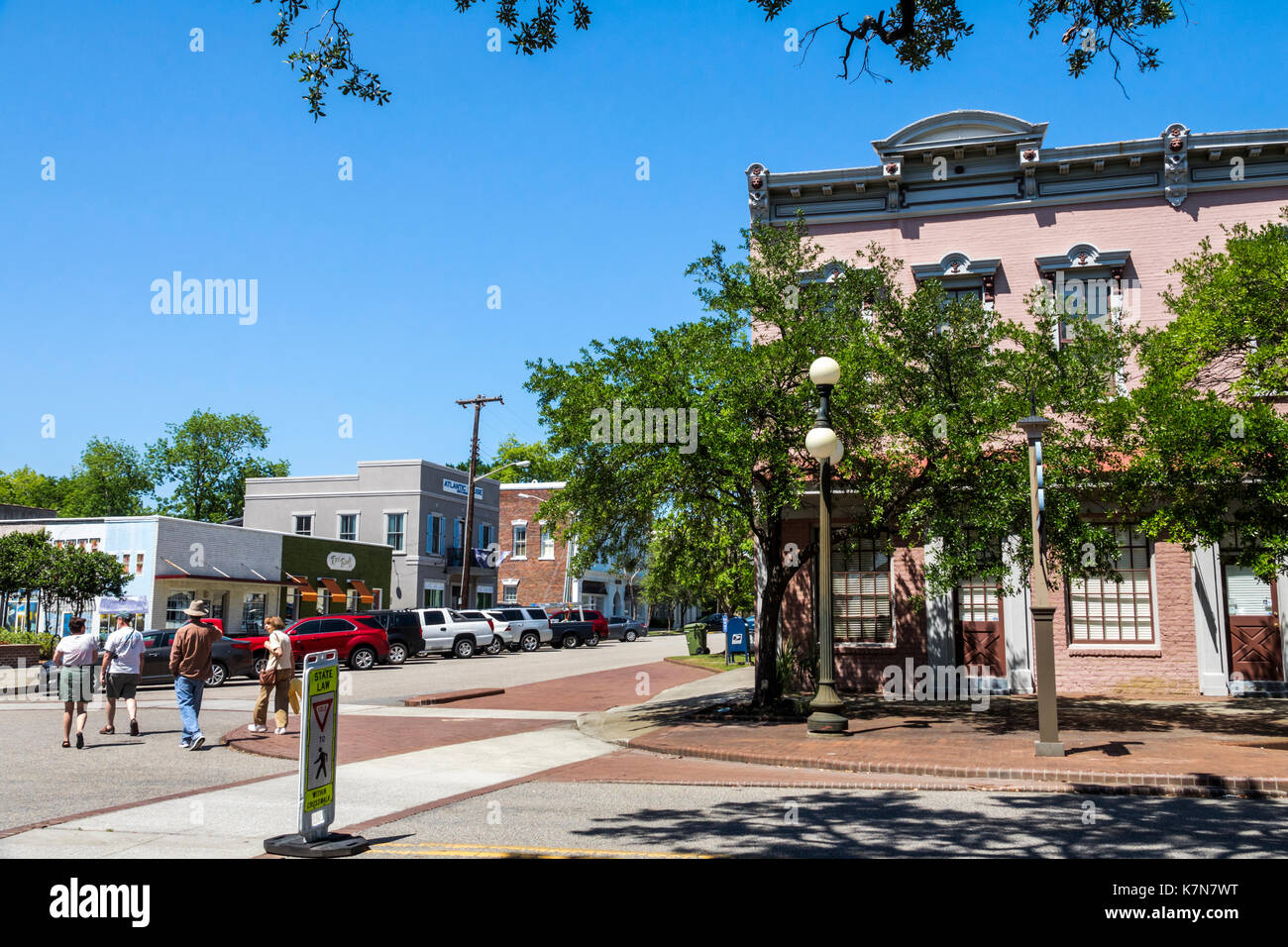 South Carolina Georgetown Lowcountry historic district Front Street - Stock Image