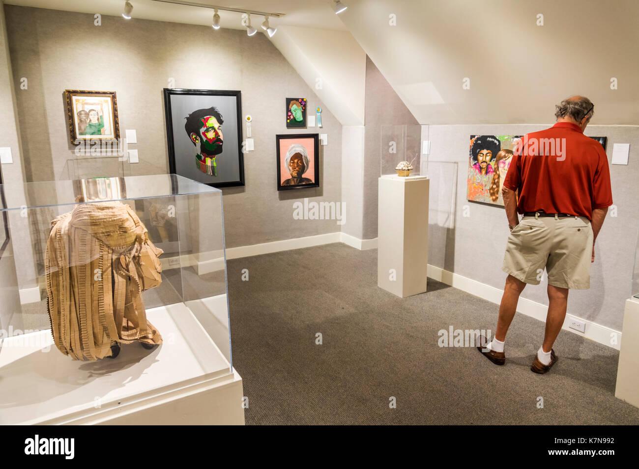 Myrtle Beach South Carolina SC Franklin G. Burroughs-Simeon B. Chapin Art Museum exhibit gallery painting artwork - Stock Image