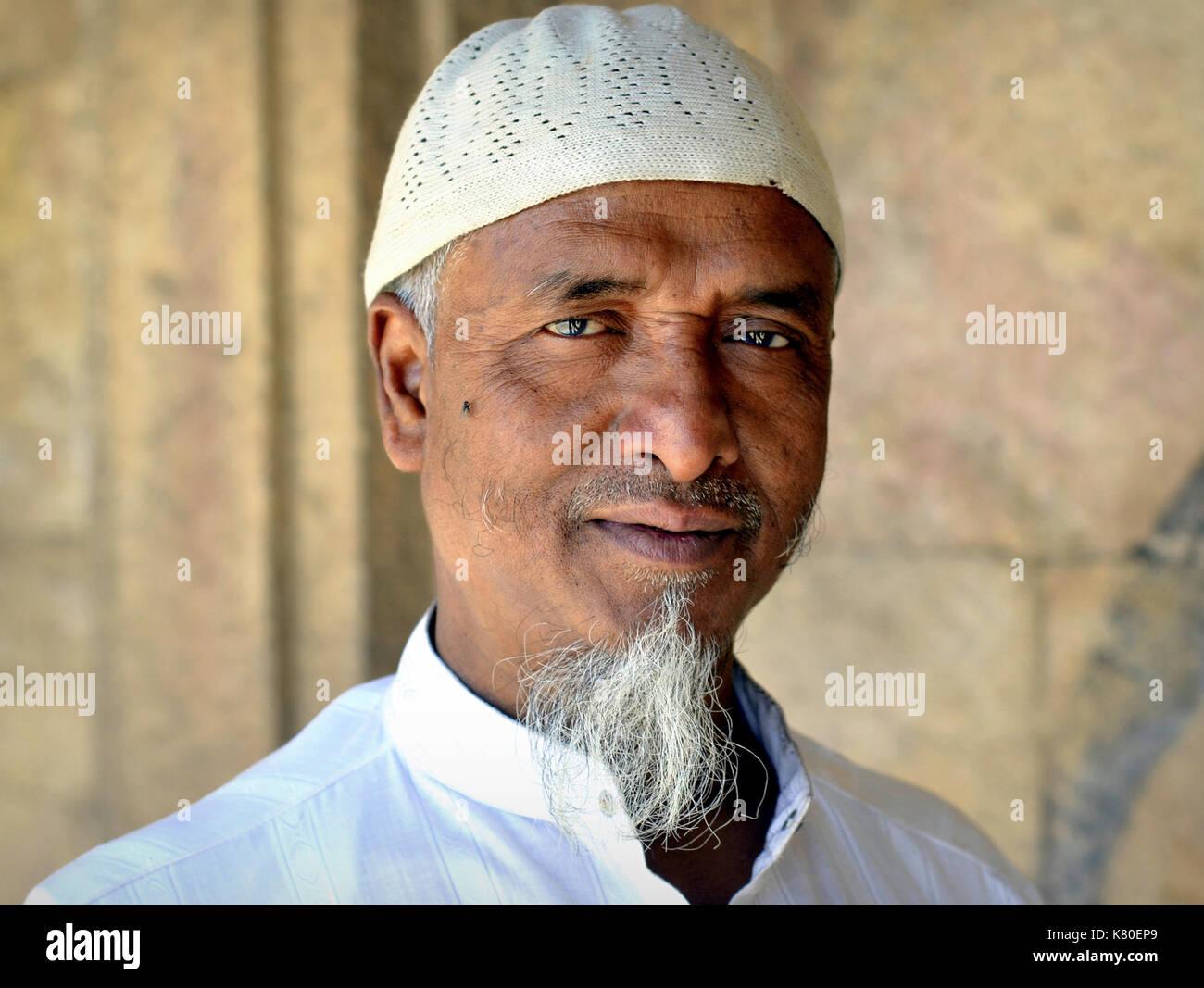white muslim man