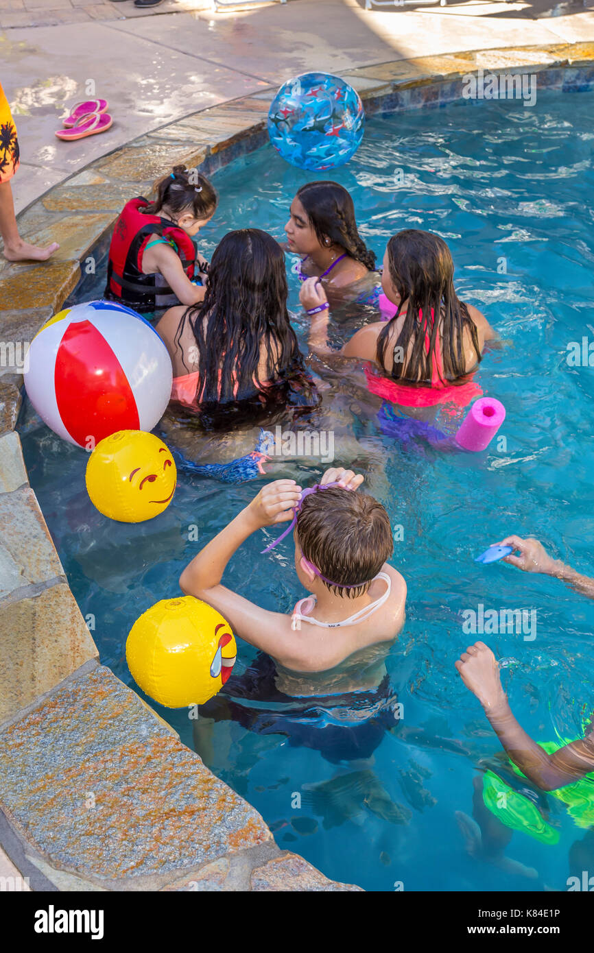 Swimming pool children north america stock photos swimming pool children north america stock for What is a freshwater swimming pool