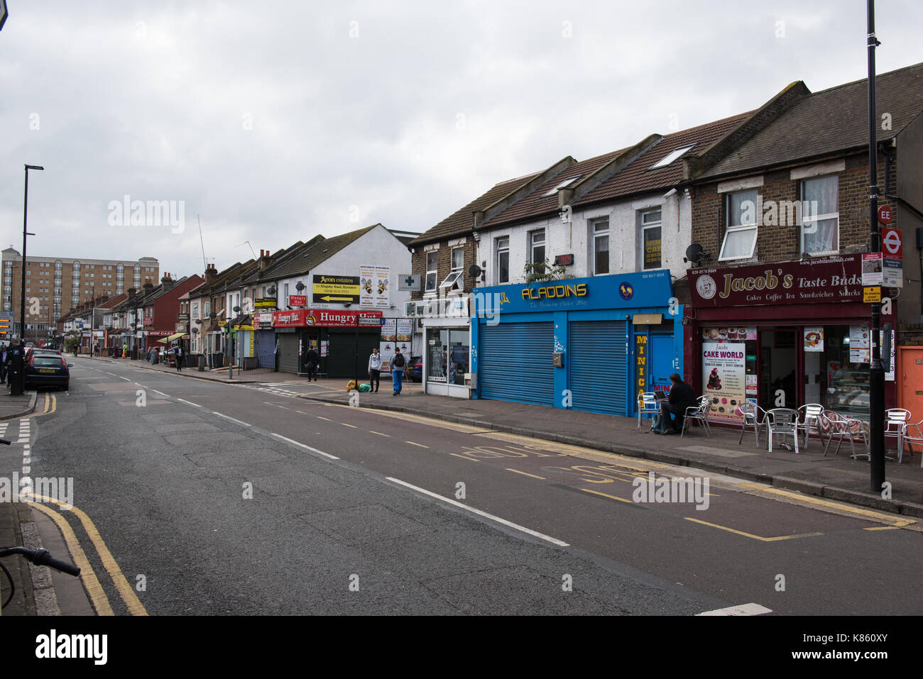 London, UK. 18th September 2017. A chicken shop in Hounslow has been searched in connection with the Parsons Green - Stock Image