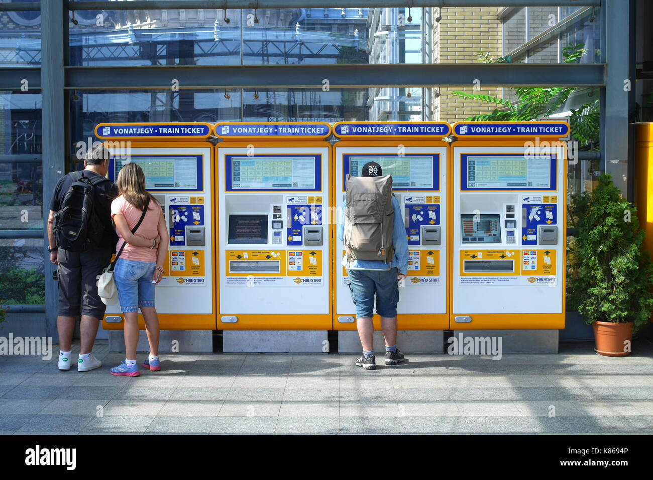how to use a self service ticket machine