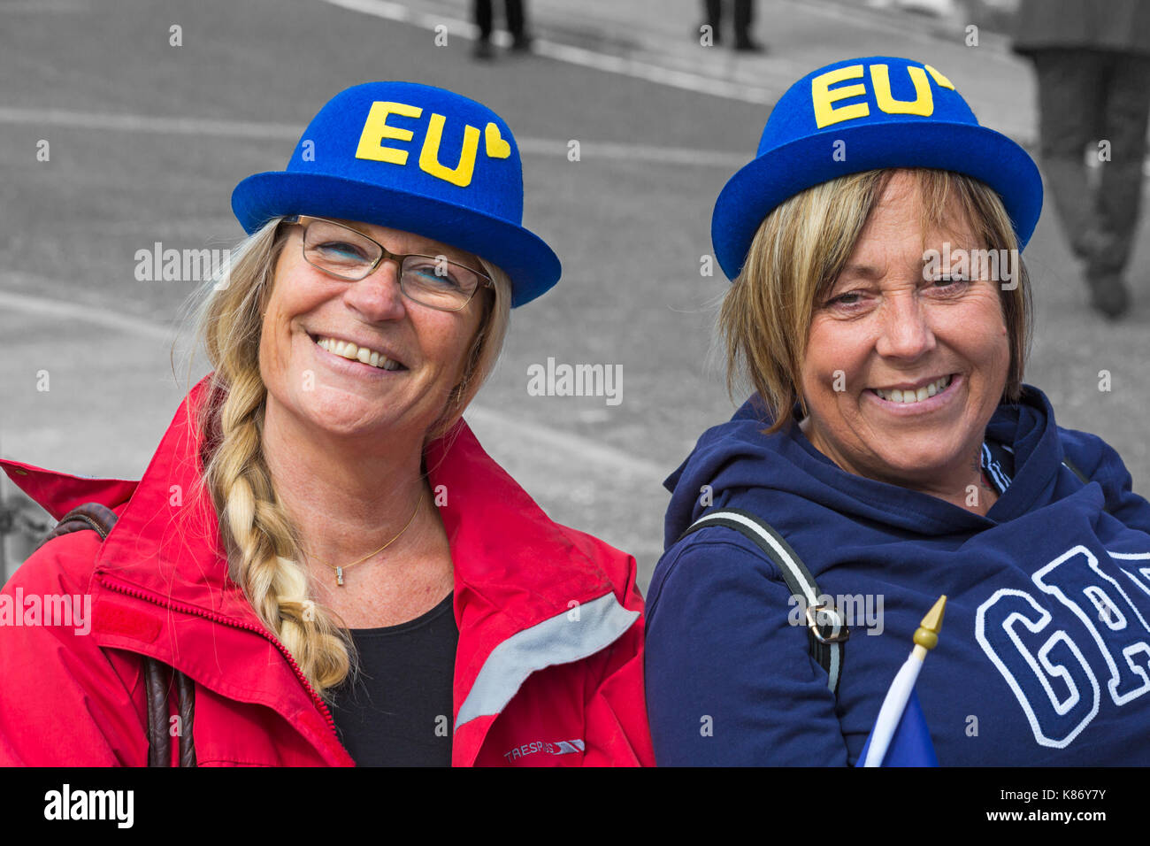 EU supporters at Stop Brexit Demonstration at Bournemouth, Dorset in September - Stock Image