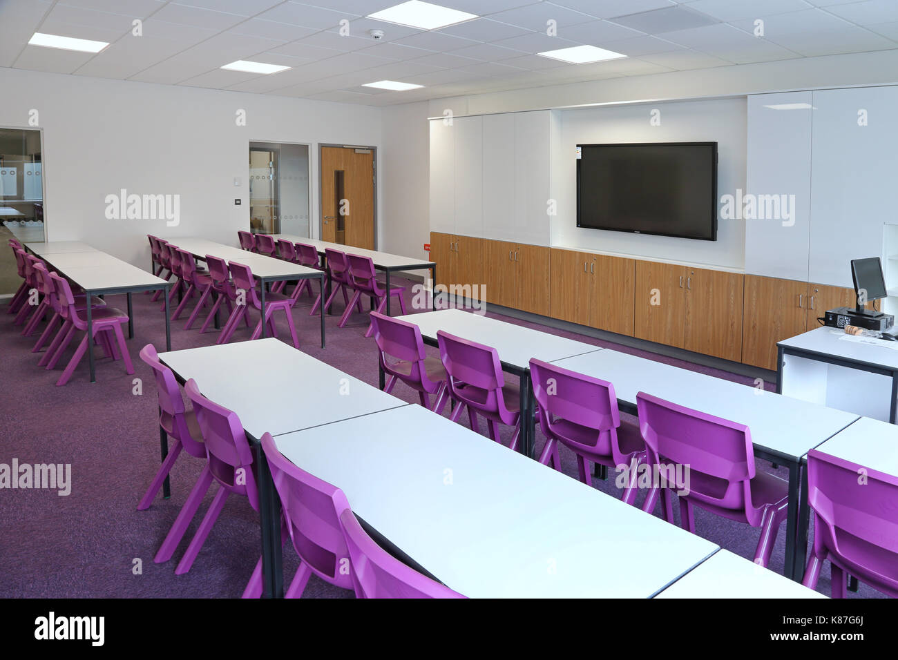 Modern Classroom Arrangement ~ A modern classroom in new london secondary school shows