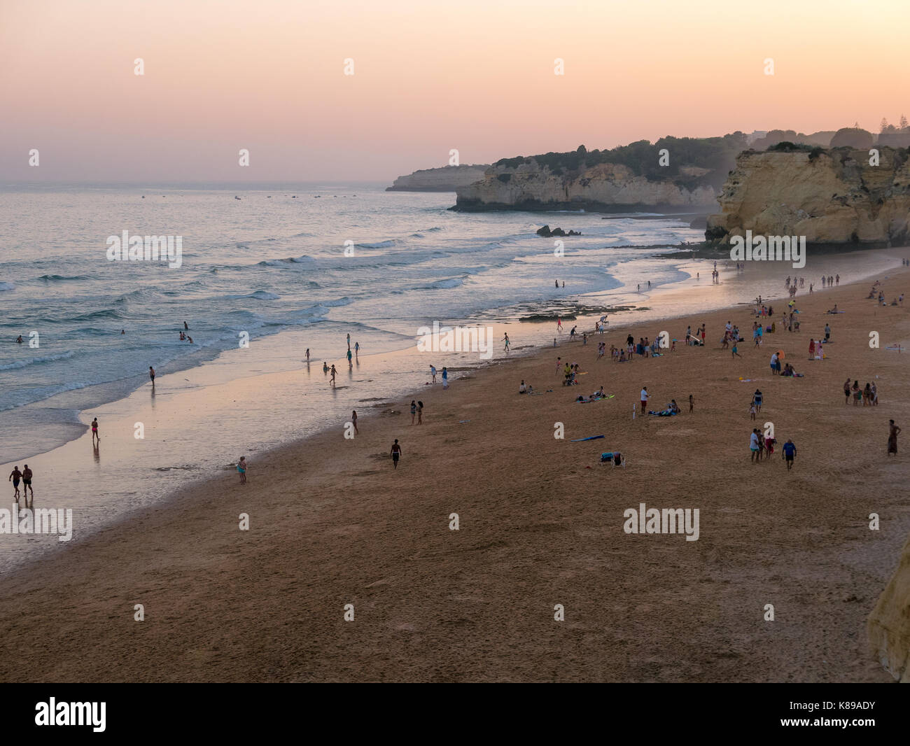Algarve in Portugal - Armacao de Pera - Stock Image