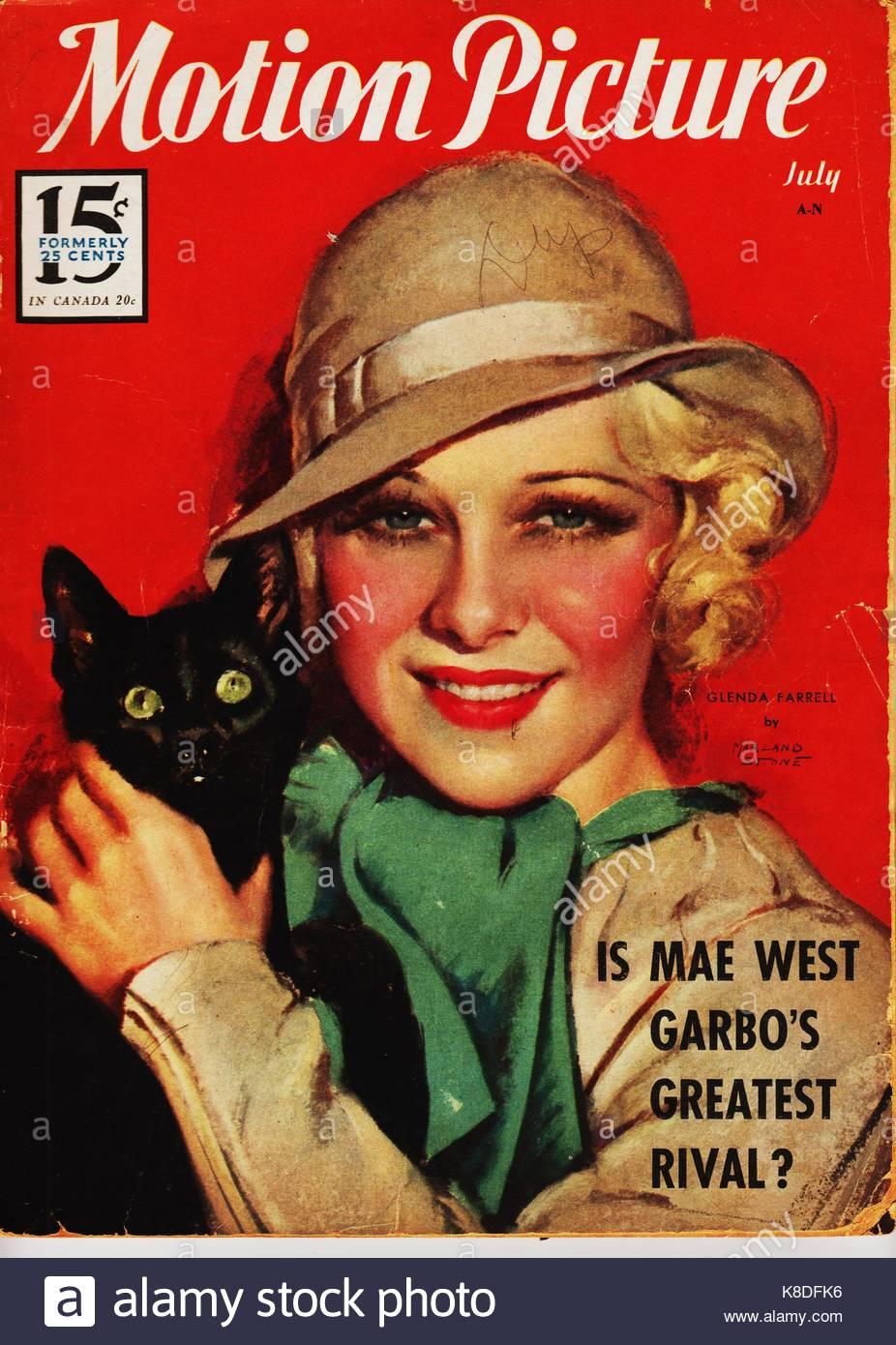Glenda Farrell (1904-1971), American film actress whose first film, LITTLE CAESAR (1937) with Edward G. Robinson - Stock Image