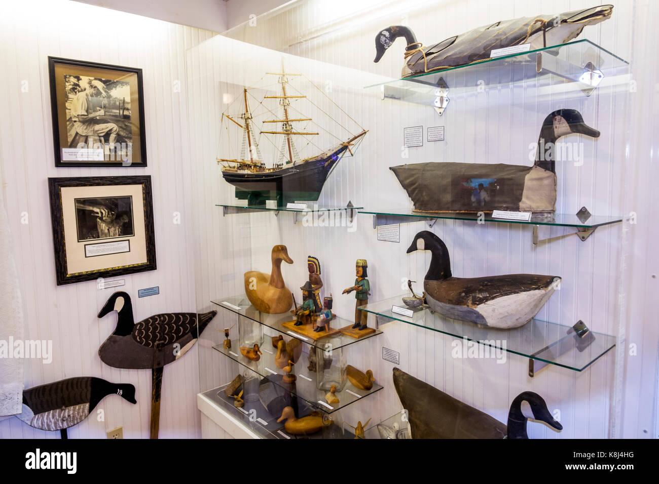 Outer Banks North Carolina NC Ocracoke Island Ocracoke Preservation Society museum David Williams house inside exhibit - Stock Image