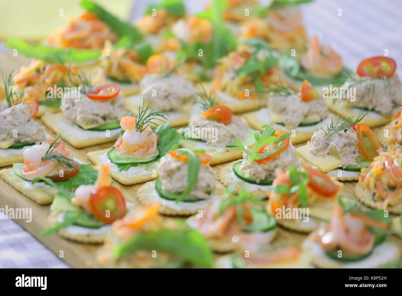 Tuna topping stock photos tuna topping stock images alamy for Canape toppings