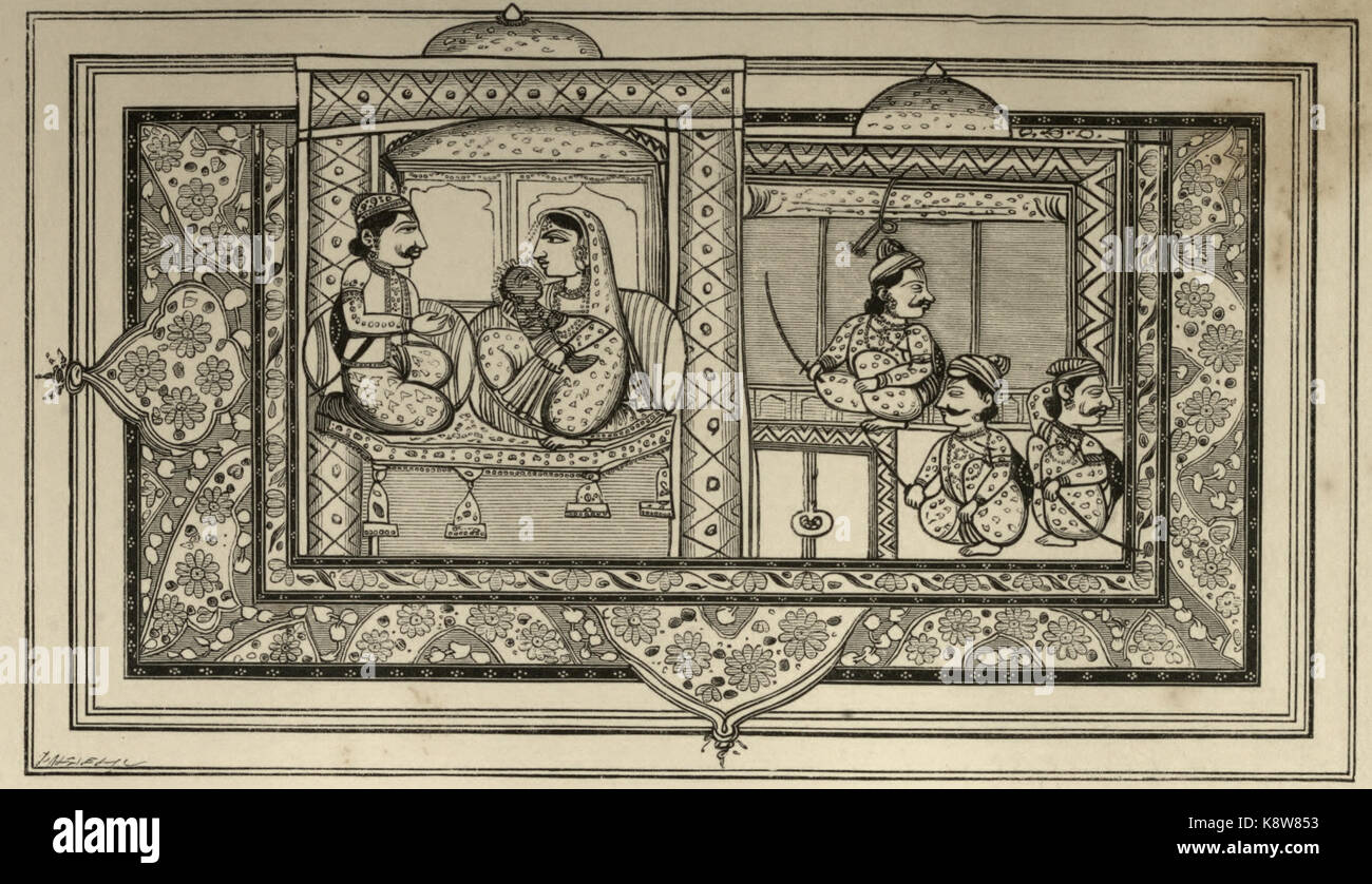 Birth of Krishna - Stock Image