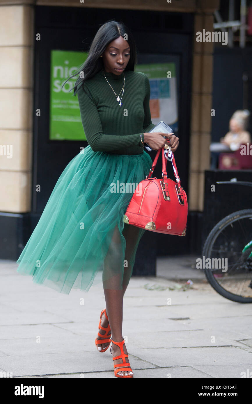 Street Style From Day Four Of London Fashion Week Spring Summer Stock Photo 160451385 Alamy